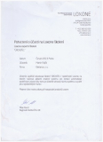 Certifikát LOXONE